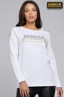 Barbour® International Longline Metallic Logo Austin Sweatshirt