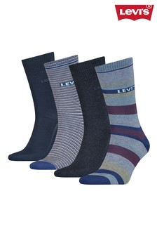 Levi's® Stripes Unisex Regular Cut Socks Gift Box (4 pack)