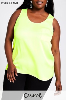 River Island Lime Polly Tank Top