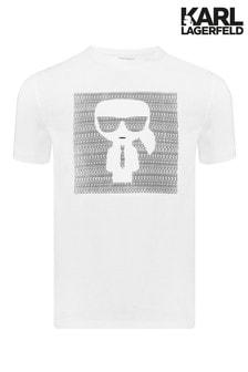 Karl Lagerfeld White Print T-Shirt