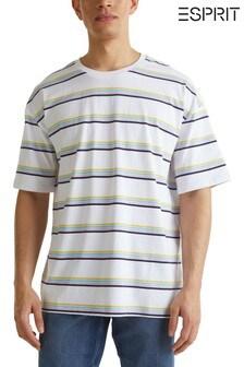 Esprit White Heavy Stripe T-Shirt