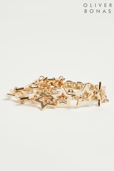Oliver Bonas Stars Gold Chain Waist Belt