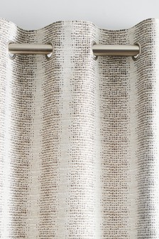 Pebble Stripe Eyelet Curtains