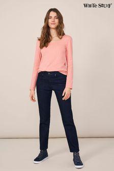 White Stuff Blue Straight Jeans