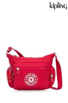 Kipling Red Logo Handbag