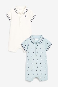 2 Pack Polo Body Rompers (0mths-2yrs)