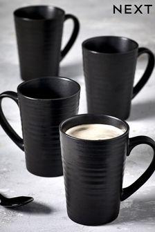 Set of 4 Latte Mugs Bronx