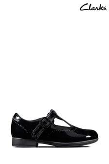 Черные лакированные туфли Clarks Scala Seek