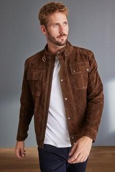 Signature Suede 4 Pocket Leather Jacket