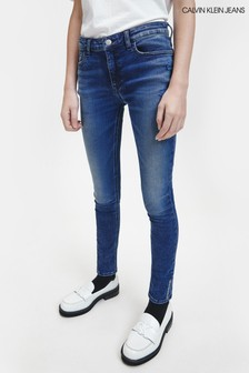 Calvin Klein Jeans Blue Skinny Overdyed Jeans