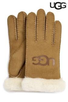 UGG® Handschuhe mit Bündchen, Kastanienbraun