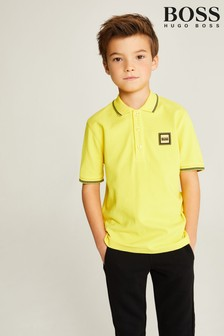 BOSS Yellow Logo Polo