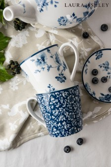 Set of 2 Laura Ashley Blueprint Collectables Mugs