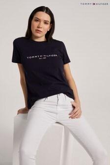 Tommy Hilfiger blauw T-shirt met Essential logo