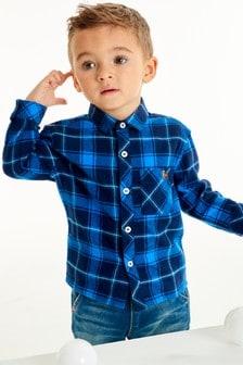 Рубашка в клетку с длинными рукавами (3 мес.-7 лет)