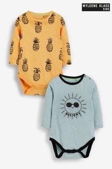 מארז 2 בגדי גוף לתינוקות של Myleene Klass עם שרוול ארוך