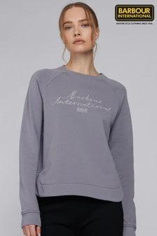 Barbour® International Gold Script Logo Boxy Fit Baltimore Sweatshirt