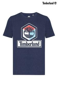 Темно-синяя футболка с логотипом Timberland®