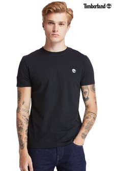 חולצת טי קצרה שלTimberland®דגםDunstan River בגזרה צרה עם צווארון מעוגל