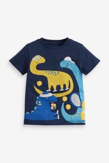 חולצת טי עם אפליקציה (3 חודשים עד גיל 7)
