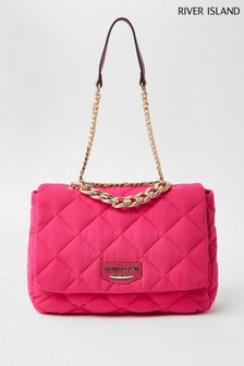 River Island Pink Quilted Soft Shoulder Bag