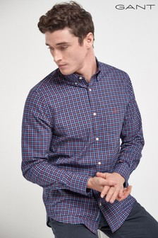 GANT Orange Tech Prep Regular Tattersall Oxford Shirt