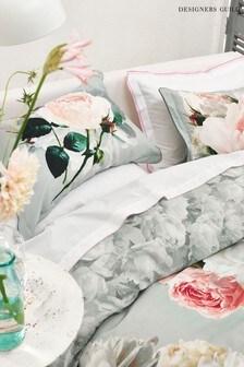 Designers Guild Grey Peonia Grande Pillowcase