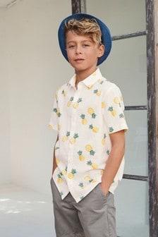 חולצה עם שרוולים קצרים (גילאי 3 עד 16)