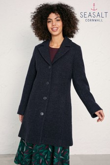 Seasalt Ivy Tower Coat Dark Night Melange