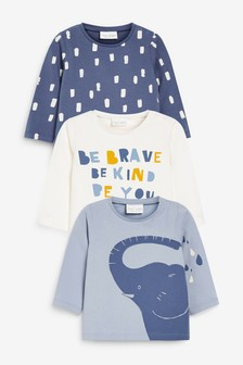3 Pack Elephant T-Shirts (0mths-3yrs)