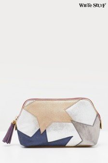White Stuff Metallic Leather Make-Up Bag