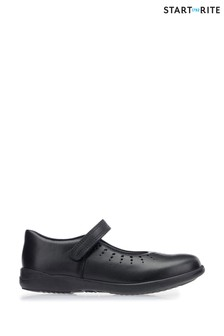 Start-Rite Black Leather Mary Jane Standard Fit Shoes