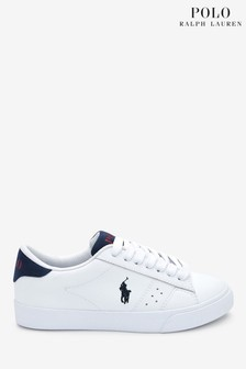 Ralph Lauren White Theron Trainers