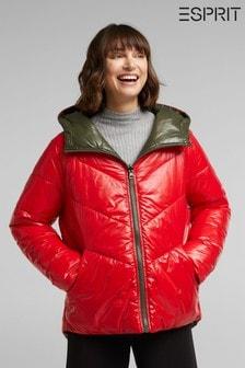Esprit Wattierte Winterjacke, Rot