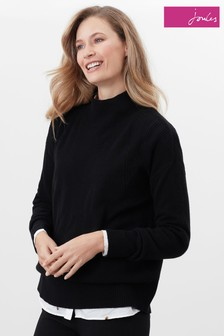 Joules Black Halton Knitted Turtle Neck Jumper