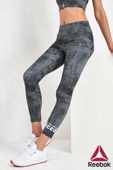 Reebok Black Work Out Ready 7/8 Printed Leggings