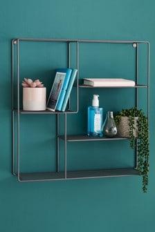 Grey Wire Square Shelf