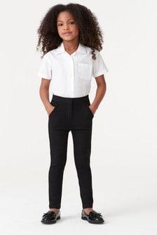 Стретчевые узкие брюки с оборкой (3-16 лет)