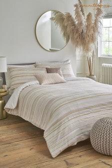 Sam Faiers Pink Serena Stripe Blush Duvet Cover and Pillowcase Set