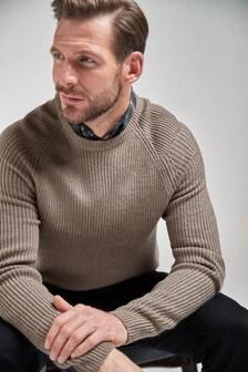 Джемпер с вырезом под горло и рубашкой-обманкой