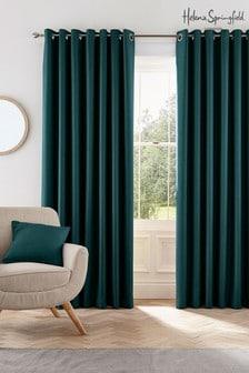 Сине-зеленые шторы с люверсами Helena Springfield Eden