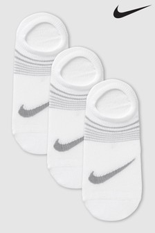 Nike Ladies White Footsie Invisible Socks Three Pack