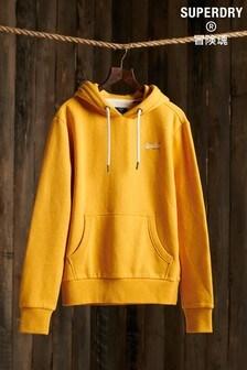 Superdry橙色品牌標誌經典連帽上衣