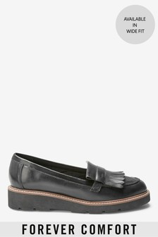 Forever Comfort® EVA-Loafer aus Leder mit Fransenverzierung