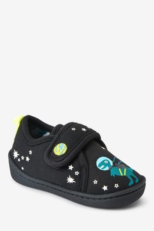 Glow In The Dark Space Dinosaur Slippers (Younger)