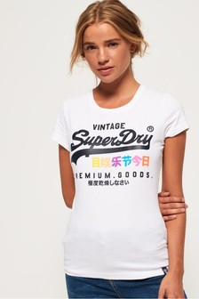 T-shirt Superdry Premium Goods à inscription