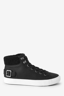 Borg Collar hoge sneakers