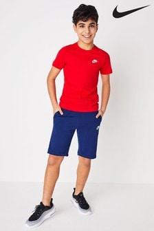Синие флисовые шорты Nike Club