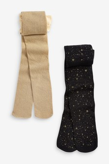 2 Pack Sparkle Star Tights