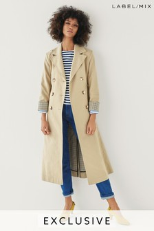 Mix/Rejina Pyo Double Breasted Belted Trench Coat
